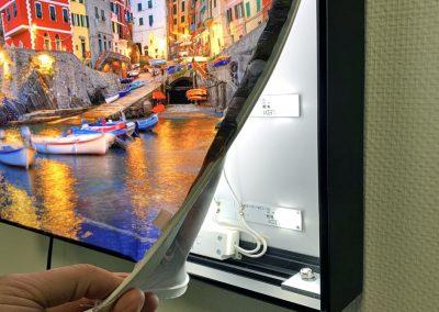LED frame met printdoek
