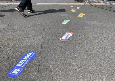 Voetstap vloer stickers