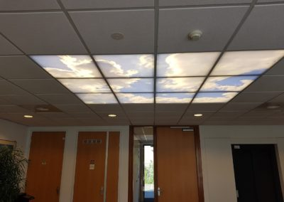 Plafond verlichting met LED